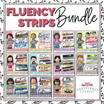Fluency Strips Growing Bundle for 2nd & 3rd Grade