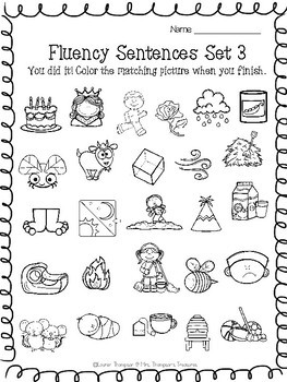 Guided Reading Fluency Sentences  Long Vowels