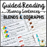 Guided Reading Fluency Sentences Blends and Digraphs