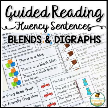 Fluency Strips Interactive Notebook SET 4 - Blends & Digraphs