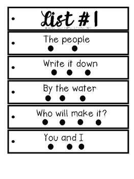 Fluency Strips List 1-4