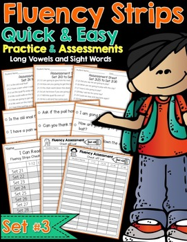 Fluency Strips™ Set 3 - Quick and Easy Practice and Assessment