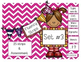 Fluency Strips (Set #3)- focus on sight words, digraphs, blends, & .?!