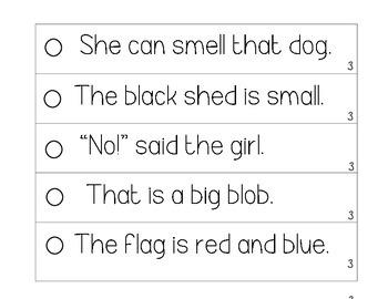 Fluency Strips (Set #3)- focus on sight words, digraphs, blends, & .?!