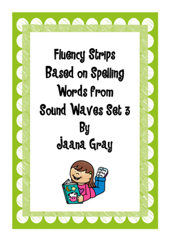 Fluency Strips Sound Waves Set 3