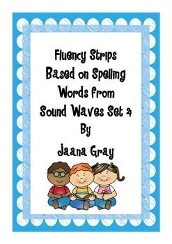 Fluency Strips Sound Waves Words Set 4