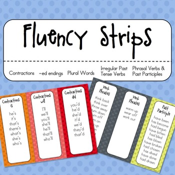 Fluency Strips for *odd* words and phrases