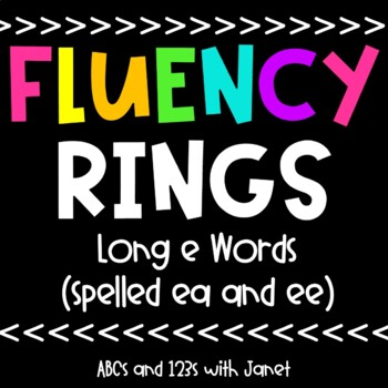 Fluency Rings {long e, spelled ee/ea}