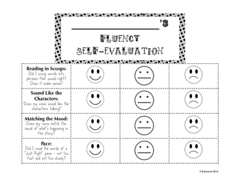 Fluency Student Self-Evaluation or Self-Assessment