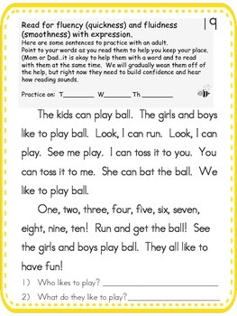 Fluency Study Folder 3 -- Reading and Math Practice for small groups