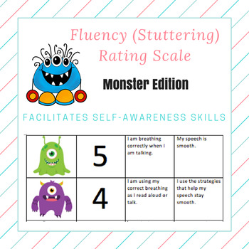 Fluency (Stuttering Rating Scale) - Monster Edition