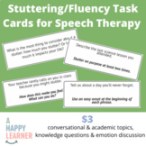 Fluency (Stuttering) Task Cards for Speech Therapy