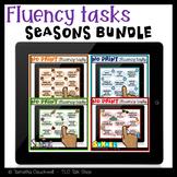 Fluency (Stuttering) Tasks No Print for Teletherapy: Seaso