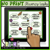 Fluency (Stuttering) Tasks No Print for Teletherapy: Spring