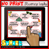 Fluency (Stuttering) Tasks No Print: Summer