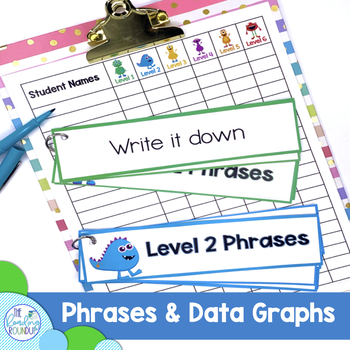 Fluency posters, practice phrases, & data graphs