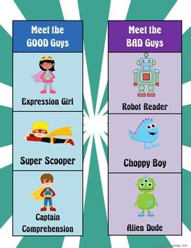 Fluency Superheroes Posters