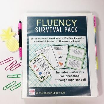 Fluency (Stuttering) Survival Pack BUNDLE