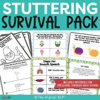 Fluency Survival Pack - Stuttering Materials for Preschool
