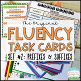 Fluency Task Cards #2 Prefixes & Suffixes { Oral Fluency Reading Practice }