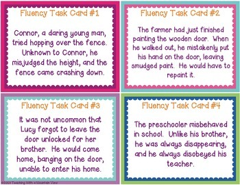 Fluency Task Cards #2 Prefixes & Suffixes { Oral Fluency Reading Practice }