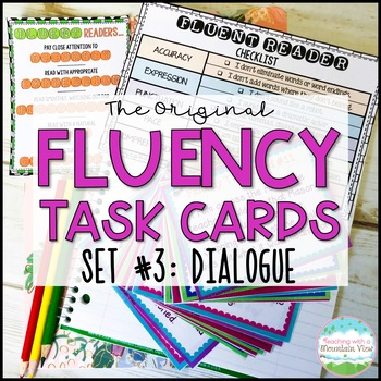Fluency Task Cards #3 Dialogue { Oral Fluency Reading Prac