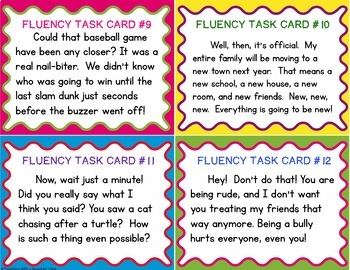 Fluency Task Cards #4 Expression & Punctuation { Oral Fluency Reading Practice }