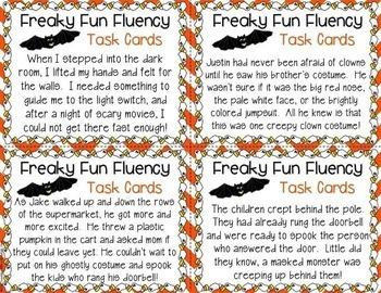 Fluency Task Cards BUNDLE { A FULL YEAR of Fluency Practice! }