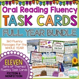 Fluency Task Cards BUNDLE { A FULL YEAR of Fluency Practice! }