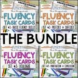 Fluency Task Cards BUNDLE  Oral Reading Fluency Practice