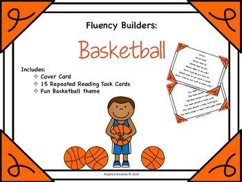 Fluency Task Cards - Basketball Theme