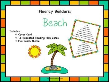 Fluency Task Cards - Beach Theme