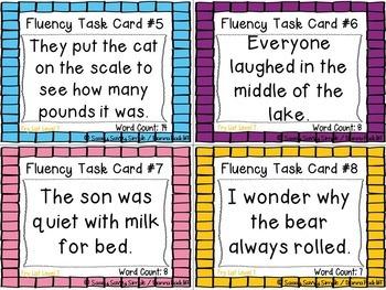 Fluency Task Cards {CCSS Aligned}
