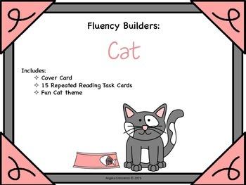 Fluency Task Cards - Cat Theme