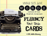 Fluency Task Cards {Fun Facts about Words}