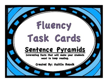Fluency Task Cards - Interesting Facts