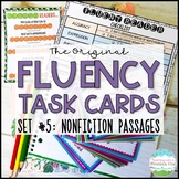 Fluency Task Cards Nonfiction Informational { Oral Reading Fluency Practice }
