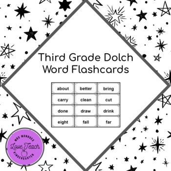 Fluency: Third Grade Dolch Sight Word Flashcards