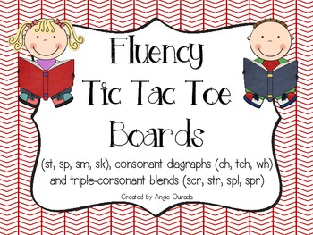 Fluency Tic Tac Toe Boards {st,sp,sm,sk,ch,tch,wh,scr,str,spl,spr}