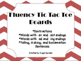 Fluency Tic Tac Toe Boards {Contractions, Word Endings, etc}