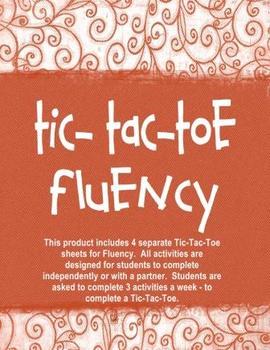 Fluency Tic-Tac-Toe Independent Activities