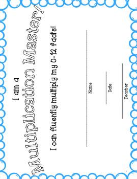 Fluency Timed Multiplication Tests 3.OA.7