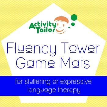 Stuttering or Expressive Language Therapy:  Fluency Tower Game Mats