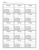 Fluency Tracker Sheet