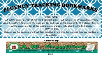 Fluency Tracking Bookmarks