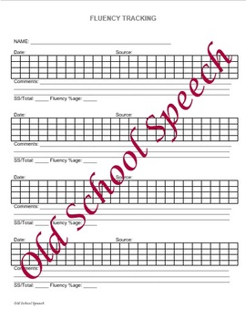 Fluency Tracking Forms