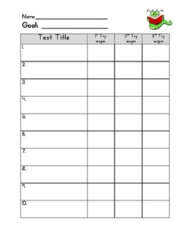 Fluency Tracking Form