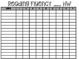 Fluency Tracking Sheet