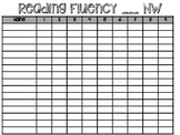 Fluency Tracking Sheet