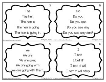Fluency Trees- First Grade Sight Word Set